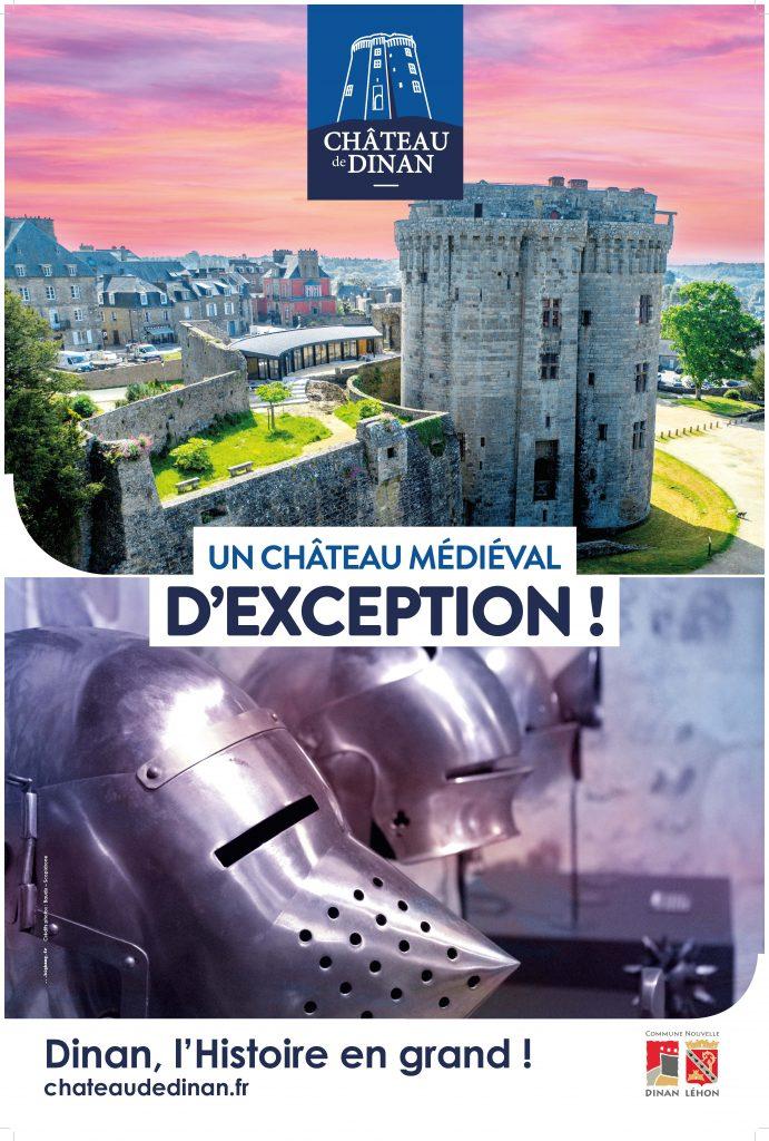 bretagne côtes armor dinan tourisme monument château moyen âge médiéval visite culture histoire historique